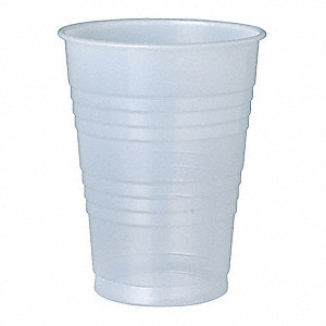 10 oz. Disposable Cold Cup, Polystyrene Plastic, Translucent, PK 500