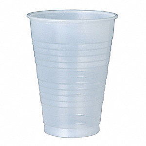 12 oz. Disposable Cold Cup, Polystyrene Plastic, Translucent, PK 500