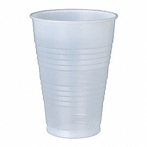 16 oz. Disposable Cold Cup, Polystyrene Plastic, Translucent, PK 500