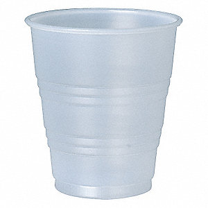 5 oz. Disposable Cold Cup, Polystyrene Plastic, Translucent, PK 750