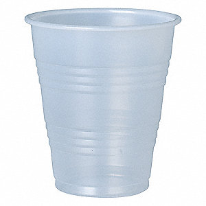 7 oz. Disposable Cold Cup, Polystyrene Plastic, Translucent, PK 750