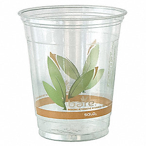 Disposable Cold Cup,12 oz.,Clear,PK1000