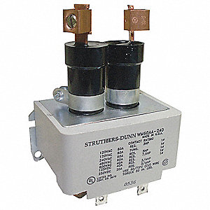 Mercury Displacement Contactor, 240VAC Coil Volts, 60A Contact Amp Rating (Resistive)
