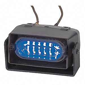 Blue Single Head Dash/Deck Light, Permanent, 12VDC