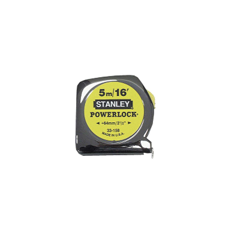 Stanley Taperule Yellow Metric 5m Tape Measures Stt33 158 33 Basic 16