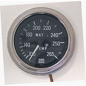 GAUGE WATER TEMPERATURE 100-265