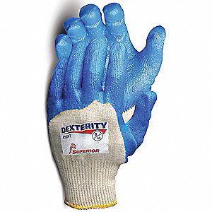 GLOVES DEXTERITY NITRILE PALM SZ 8