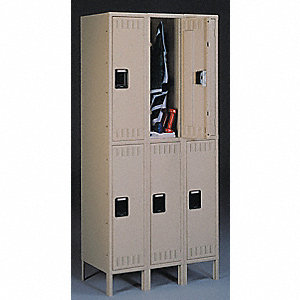 LOCKER DBLE TIER 3 WIDE 15X18X78