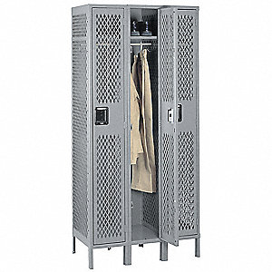 LOCKER SINGLE TIER 3 WIDE 12X18X72