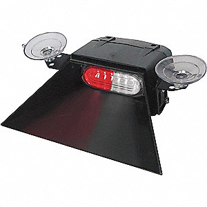Red/White Single Head Dash/Deck Light, Windshield Visor/Suction Cup, 12VDC