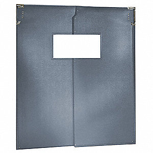 Swinging Door,7 x 6 ft,Metallic Gray,PR