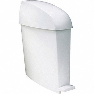 BIN 3 GALLON SANITARY WHITE