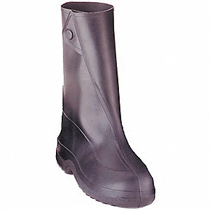 OVERBOOTS RUBBER BK 10IN LGE