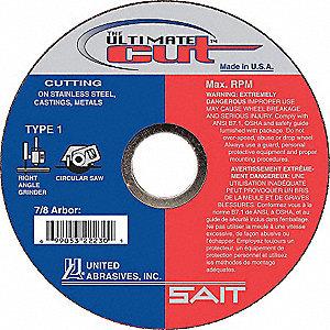 CUTTING WHEEL 4-1/2 X .045 X 7/8 UL