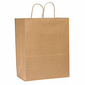 "Flat Brown Shopping Bag 6""D x 13""W x 15-3/4""L"