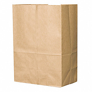"Paper Sack, Brown, 10 lb., No Handle, Flat Bottom, Width 12"", Height 17"", 500 PK"