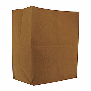 "Flat Brown Grocery Bag 7""D x 12""W x 14""L"