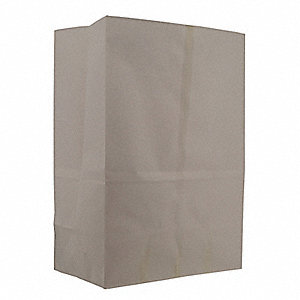 "Paper Sack, White, 13 lb., No Handle, Flat Bottom, Width 12"", Height 17"", 500 PK"