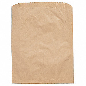 "Pinched Brown Flat Merchandise Bag 11""D x 8-1/2""W x 11""L"