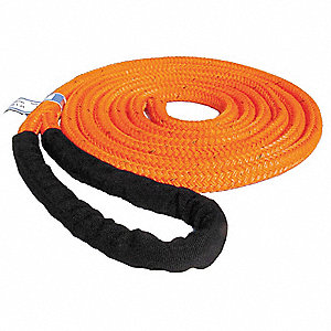 14 ft. Braided With 1 Eye Polyester Rope Sling with 4,600 lb. Holding Capacity, Orange