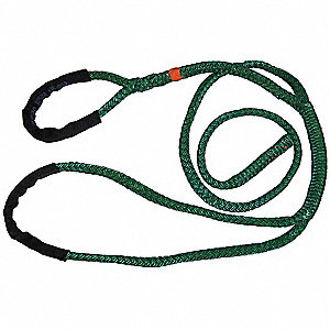 4 ft.  to 11 ft. 12 Strand Braided Polyester Adjustable Rope Sling with 3,900 lb. Holding Capacity,