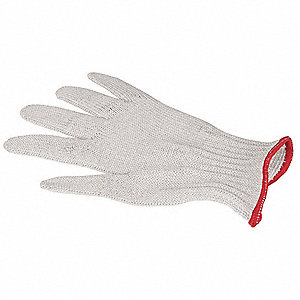 Cut Resistant Glove, ANSI/ISEA Cut Level 5 Lining, White, 9, EA 1