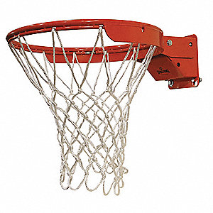 Basketball Slammer Rim, Includes Net and Mounting Hardware