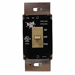 120VAC Electronic Wall Switch Timer, Ivory
