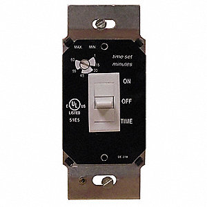 120VAC Electronic Wall Switch Timer, White