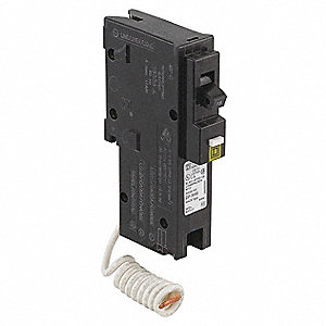 Plug In Circuit Breaker, HOM, Number of Poles 1, 20 Amps, 120VAC