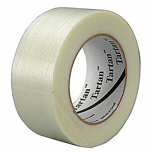 55m 4 mil Polypropylene Film Filament Tape, Clear