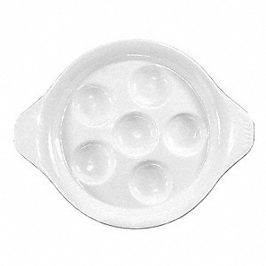 Escargot Dish,White,PK36