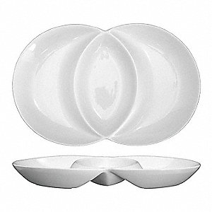 Unity Double Well Plate,7 Oz,White,PK24