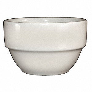 Bowl,Stackable,8-1/2 Oz.Americn Wht,PK36