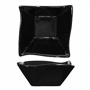 Wave Fruit Bowl,11 Oz,Black,PK24