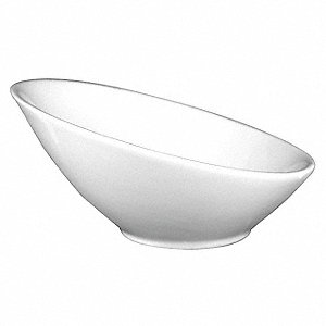 Slanted Side Bowl, 35 Oz, White, PK6