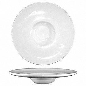 Deep Well Wide Rim Bowl,4 Oz,White,PK36