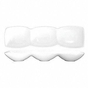 Bowl,3-Compartment,4 Oz,White,PK24