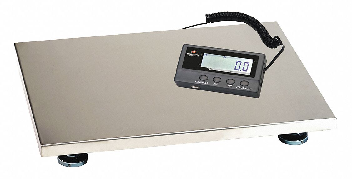 Bench Scale,  LCD Scale Display,  Weighing Units kg, lb