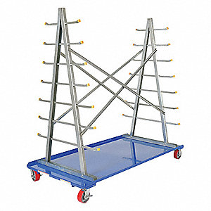 CART A-FRAME WITH STORAGE RACK