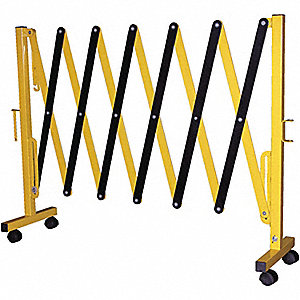GATE SAFETY ALUM EXPAND W/ CASTERS