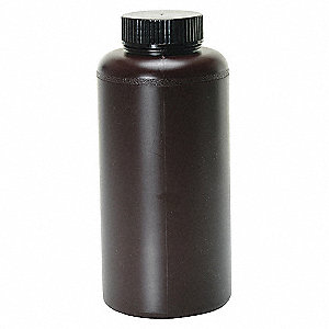 BOTTLE WIDE MOUTH AMBER UV 16 OZ