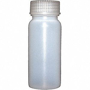 BOTTLE LDPE WIDE MOUTH AMBER 4 OZ