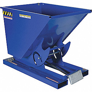 HOPPER SELF-DUMP LT-DUTY BLUE 1/3YD