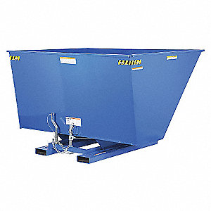 HOPPER SELF-DUMP HVY-DUTY BLUE 3 YD