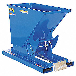 HOPPER SELF-DUMP LT-DUTY BLUE 1/4YD