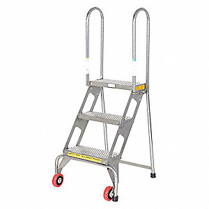 LADDER FOLD STAINLESS STEEL 3 STEP