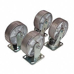 CASTERS HOPPER SEMI-STEEL 8IN
