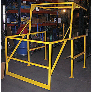 vestil railing safety mezzanine guard rails vesmezz200