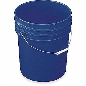 PAIL HDPE BLUE 5 GAL STEEL HANDLE